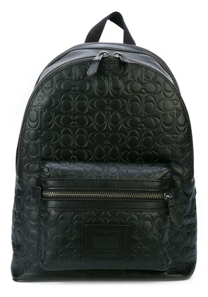 Coach signature embossed Academy backpack - Black