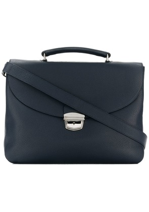 Orciani foldover top briefcase - Blue