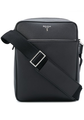 Serapian logo plaque messenger bag - Black