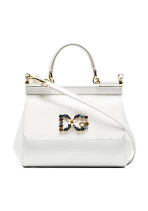Dolce & Gabbana White Sicily small leather shoulder bag