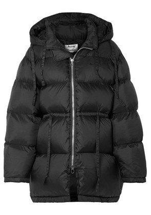 Acne Studios - Oversized Hooded Quilted Shell Down Jacket - Black