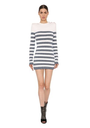 LUREX STRIPED VISCOSE KNIT DRESS