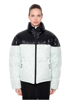 CONTRASTING COLOR DOWN JACKET