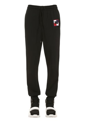 LOGO PATCH COTTON JERSEY SWEATPANTS