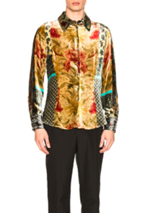 Pierre-Louis Mascia Kanpur Stampato Shirt in Paisley,Floral,Yellow,Neutral