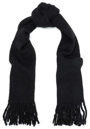 Rag & Bone Woman Francie Merino Wool-blend Scarf Black Size -