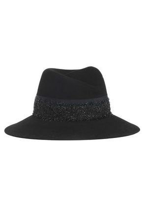 Maison Michel Woman Grosgrain And Tinsel-trimmed Felt Fedora Black Size L