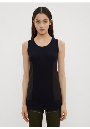 Atlein Patched Military Knit Tank Top in Navy size FR - 38