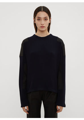 Atlein Military Ribbed Knit Sweater in Navy size FR - 40
