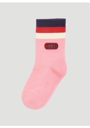 Gucci Logo Game Patch Socks in Pink size M