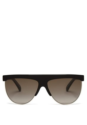 Givenchy - Flat Top Acetate Sunglasses - Womens - Black