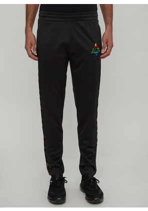 Marcelo Burlon X Kappa Multi-Coloured Kappa Logo Tape Track Pants in Black size M