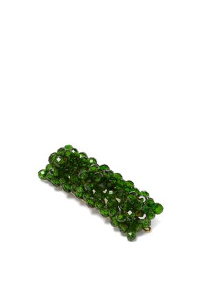 Shrimps - Cleo Bead Embellished Hair Clip - Womens - Green