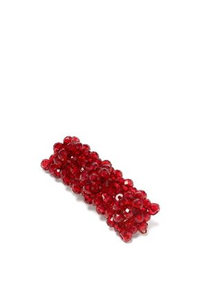 Shrimps - Cleo Bead Embellished Hair Clip - Womens - Red