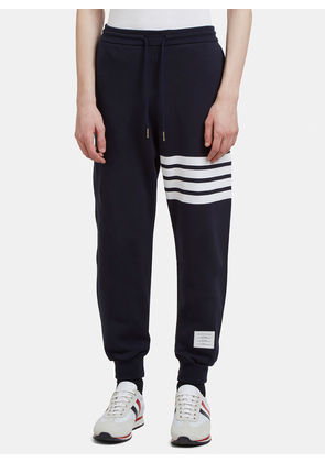 Thom Browne Men's 4 Bar Jersey Track Pants in Navy size JPN - 01