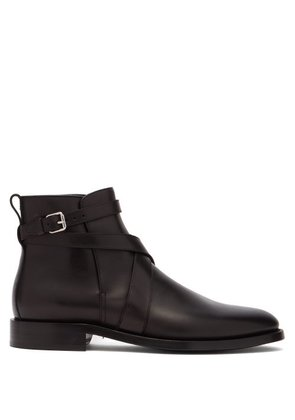 Burberry - Pryle Ankle Strap Leather Boots - Mens - Black