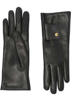 Burberry Cashmere-lined Lambskin Gloves - Black