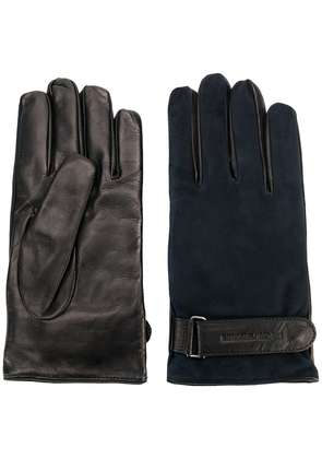 Emporio Armani contrast fitted gloves - Blue