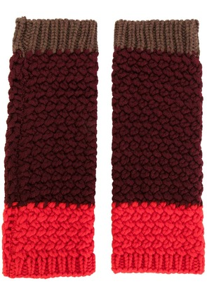 Etro knitted gloves - Red