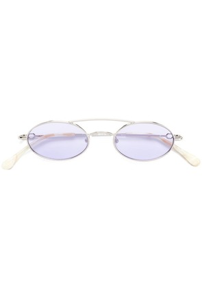 Alessandra Rich oval sunglasses - Silver