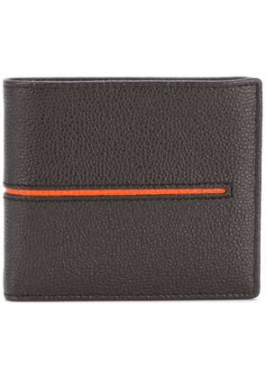 Tod's contrast stripe wallet - Brown