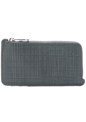 Loewe zipped card and coin holder - Grey