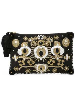 Figue Soma Pouch with lynx beading - Black