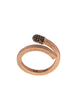 M. Cohen Carved Diamond Match ring - Gold