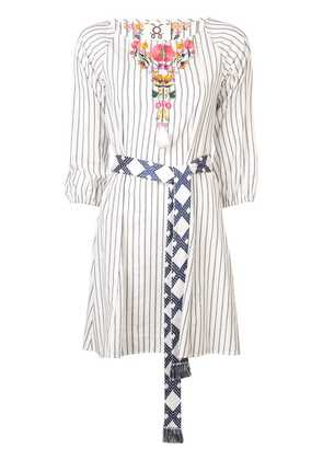 Figue Edette stripe dress - White
