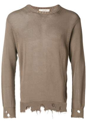 Maison Flaneur long sleeved pullover - Brown