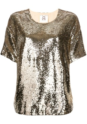 Figue Layla sequin top - Gold
