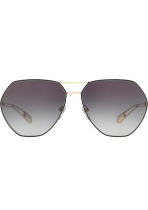 Bulgari hexagonal frame sunglasses - Metallic