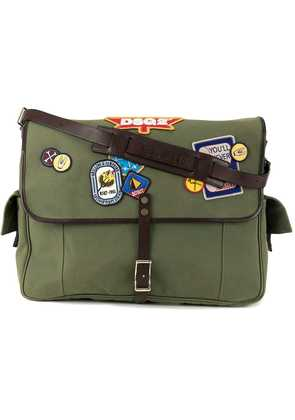 Dsquared2 patched military satchel - Green