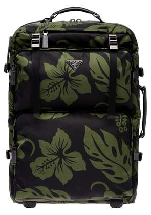 Prada Hibiscus trolley bag - Green