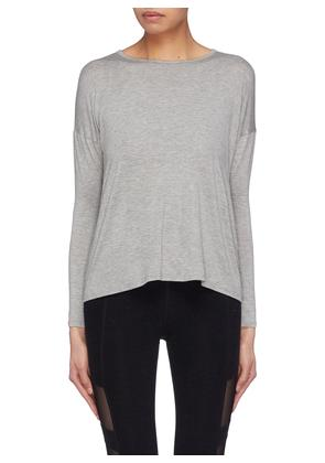 'Draw The Line' tie back Micromodal® jersey long sleeve T-shirt