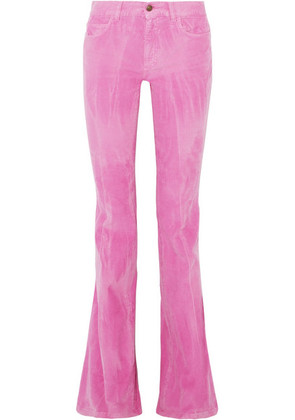 Gucci - Cotton-blend Corduroy Flared Pants - Baby pink