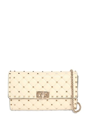 VALENTINO GARAVANI SPIKE LEATHER CLUTCH