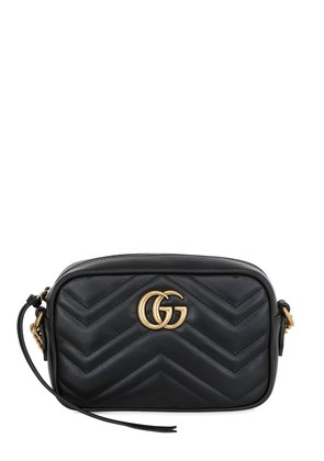 MINI GG MARMONT 2.0 LEATHER CAMERA BAG