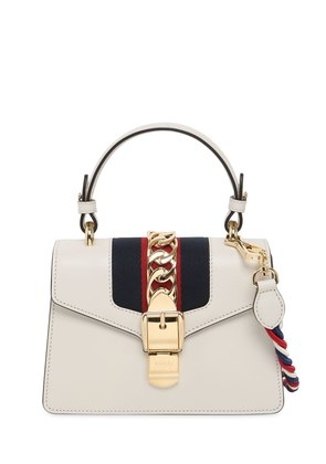 MINI SYLVIE LEATHER SHOULDER BAG