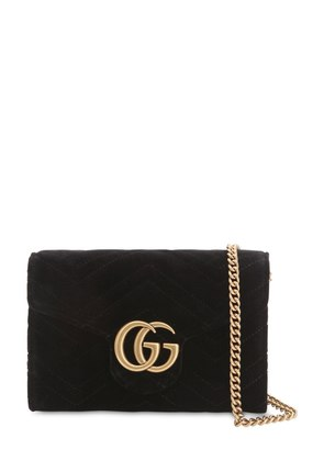 GG MARMONT VELVET SHOULDER BAG