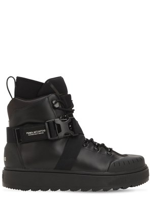 REN LEATHER SNEAKER COMBAT BOOTS