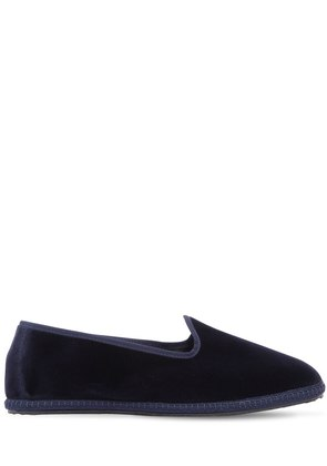 10MM BLU VELVET LOAFERS