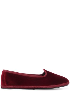 10MM BORDEAUX VELVET LOAFERS