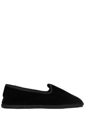 10MM NERO VELVET LOAFERS