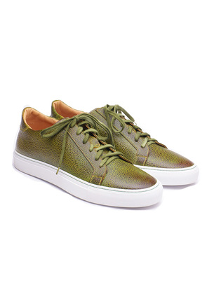 Stefano Bemer Highland Green Calfskin Leather Sneakers