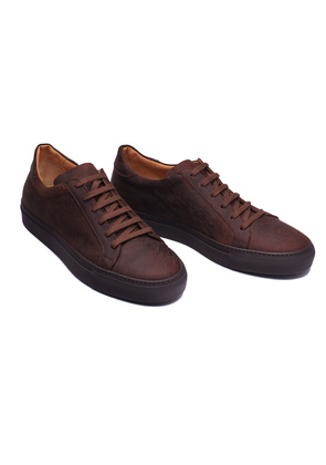 Stefano Bemer Snuff Brown Kudu Leather Sneakers