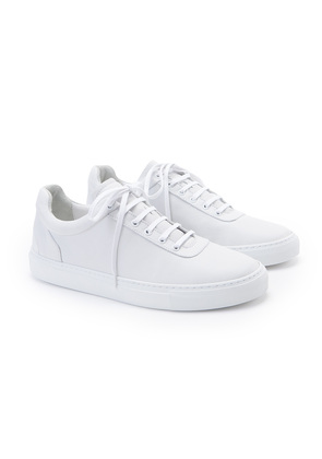 North-89 White No.1 Nappa Leather Sneakers
