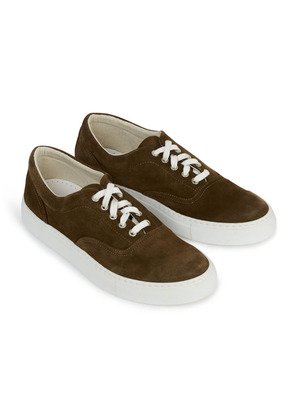 Doppiaa Dark Brown Premium Suede Sneakers