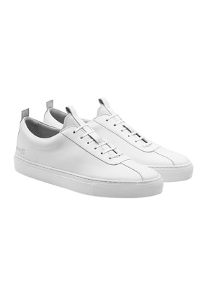 Grenson White Calf Leather Low Top Sneakers