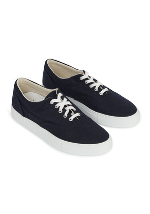 Doppiaa Navy Blue Wool Sneakers
